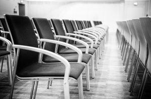 Eventfotografie Stuhlreihen im Haus der Bayerischen Wirtschaft München
