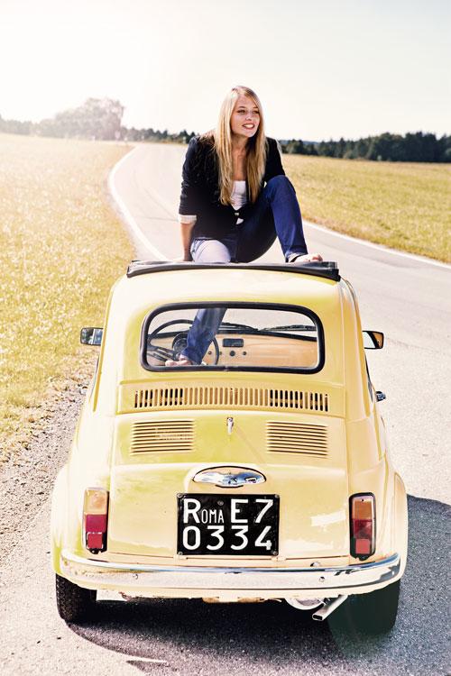 Portraitfotograf München mit Fiat 500
