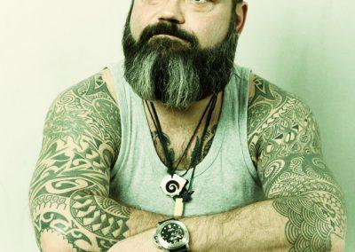 Portraitfotograf München Schauspielerportrait Charakterportrait mit polynesischen Tattoos