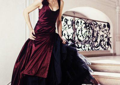 Portraitfotograf München Modeshooting für Michaela Keune Couture in einem Schloss Abendkleider